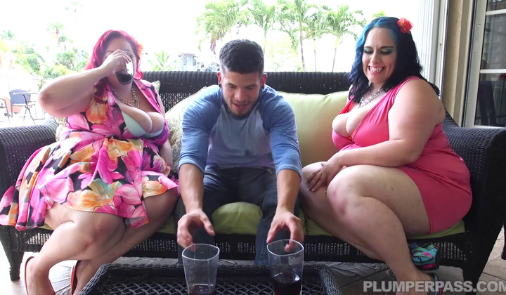 Blowjob - two Bbws Get Cop In Biracial Gang Fuck A Thon Hd